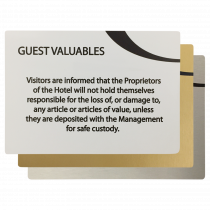 Guest Valuables Information Notices