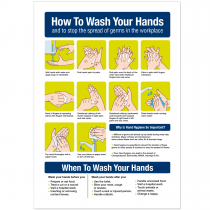 How to wash your hands in the workplace vinyl sticker