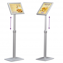Height Adjustable Angled Display Floor Stands