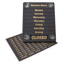 Adjustable Opening Hours Display Sign