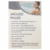 Jacuzzi Rules Notice