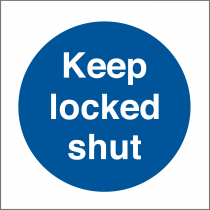 Keep Locked Shut Sticker