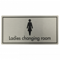 Ladies Changing Room Door Sign