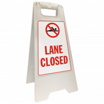 Lane Closed Floor Stand