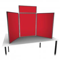 Large Table Top 3 Panel Folding Display Kit