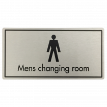 Mens Changing Room Door Sign