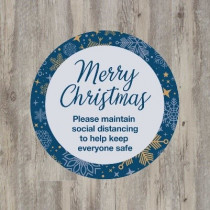 Merry Christmas Social Distancing Floor Graphic