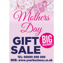 Personalised Mother Day Gift Sale Poster