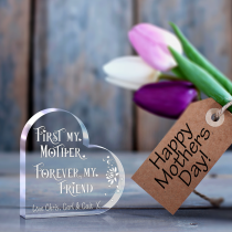 Mothers Day Engraved Acrylic Heart