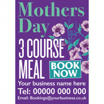 Customised Mother's Day 3 Course Meal Poster