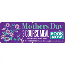 Personalised Mothers Day 3 Course Meal Banner