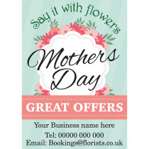 Say it with flowers this Mothers Day Poster