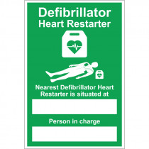 nearest Defibrillator Sign