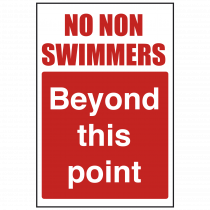 No Non-swimmers Beyond this Point Safety Sign