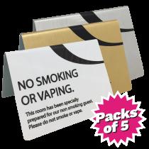 No Smoking or Vaping Tent Notice Packs