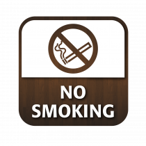 No Smoking Window Sticker