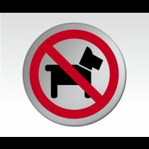 No Dogs Symbol Satin Silver Door Disc