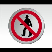 No Entry Symbol Satin Silver Door Disc