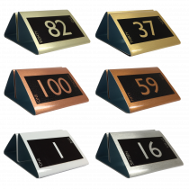 Numbered Metal Menu Holders