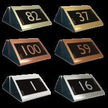 Numbered Metal Menu Holders