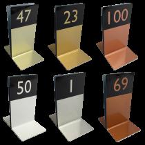 Numbered Metal Menu Holders - Single Channel Holder
