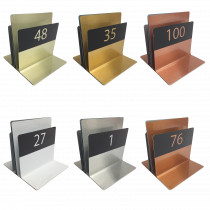Numbered Menu Holders - Triple Channel