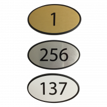 Oval Framed Premier Door Numbers