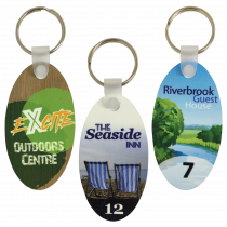 Oval Full Colour Photo Metal Keyring Tag