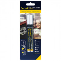 Pack of 2 Small White Liquid Chalk Pens - 1-2mm Nib