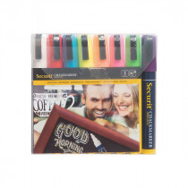Liquid Chalk Pens - Pack of 8 Bright Colours – Size Medium 2-6 mm Nib