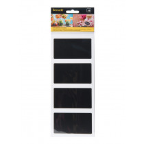 Pack of 8 Rectangle Self-Adhesive Chalkboard Stickers