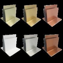 Plain Metal Menu Holders - Triple Channel
