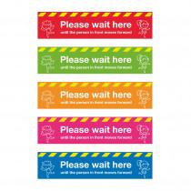 Please wait here School Social Distancing Floor Graphics