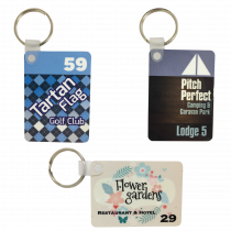 Rectangular Full Colour Photo Metal Key Tag
