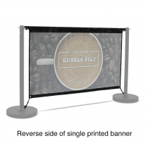 Replacement Graphic for 1500 Single-Sided Economy Café Barrier
