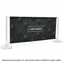 Deluxe Cafe Barrier Replacement Graphic Single Sided