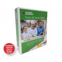 Chef Dishes - Staff & Server Allergy Card Guide - A5 Ring Binder with 50 Chef Recipe Cards (Double sided to allow fill in 100 dishes)