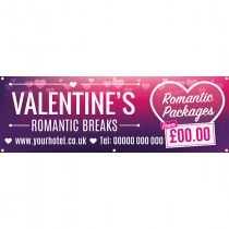 Valentines Day Romantic Breaks PVC Banner