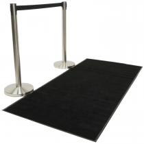 Rope Barrier Black Carpet