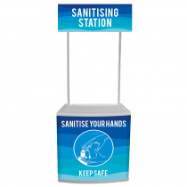 Sanitising Station Counter with printed graphics