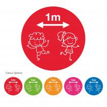 School Social Distancing circular Floor Markers / Graphics