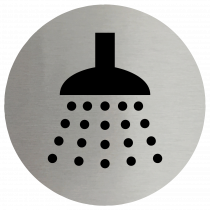 Shower Symbol Stainless Steel Disc