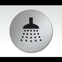 Shower Symbol Satin Silver Door Disc