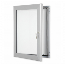 Silver Lockable Poster Display Cases / Menu Display Cases