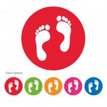 School Social Distancing Feet Symbol circular Floor Markers / Graphics