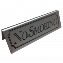 Stainless Steel No Smoking table tent Sign
