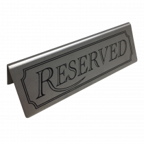 Stainless Steel Reserved table tent Notice