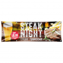 Steak Night Pub Banner