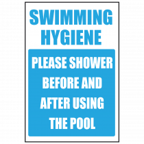 Shower Before Using the Swimming Pool Sign