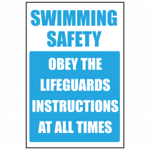Obey Lifeguard Safety Sign